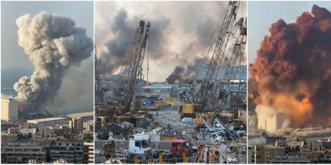 Βηρυτός-Εκρήξεις:Τεράστιες καταστροφές, τουλάχιστον 70 νεκροί, πάνω από 2.200 τραυματίες