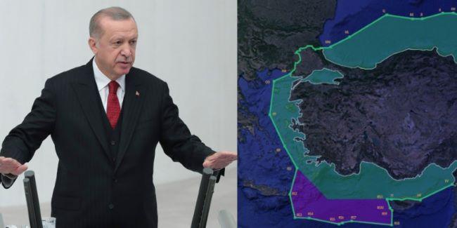 De facto αρπαγή: Η Τουρκία οριοθετεί το μισό Αιγαίο για
