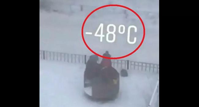 Παιδάκια στη Σιβηρία παίζουν