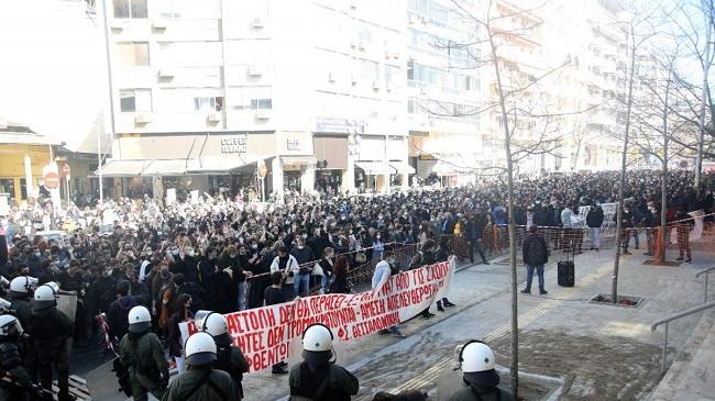 Πολύ μεγάλο φοιτητικό συλλαλητήριο