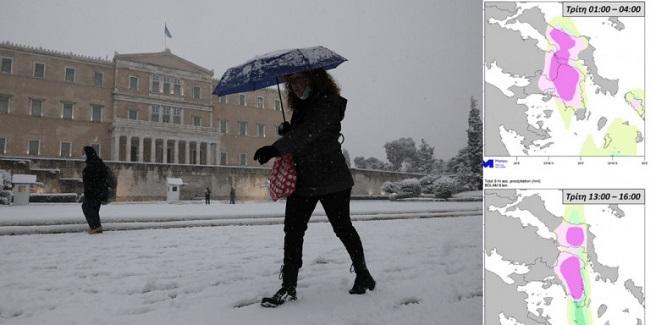 Θα συνεχιστούν οι χιονοπτώσεις στην Αττική