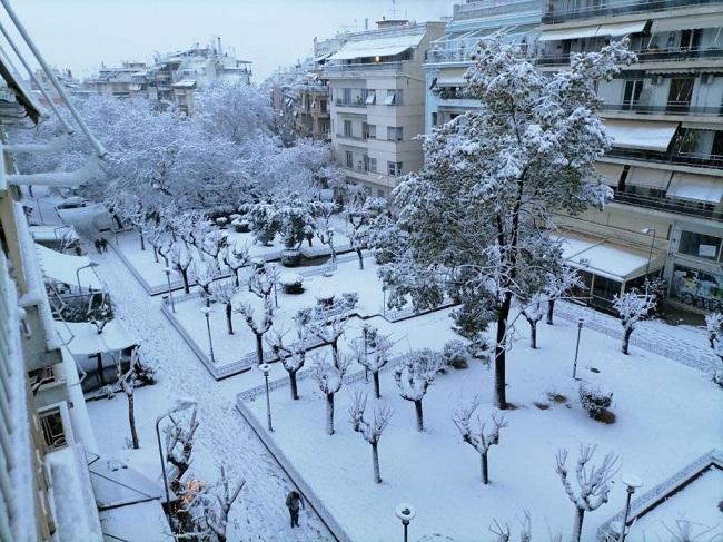 Μήδεια: Πρωτοφανής χιονόπτωση