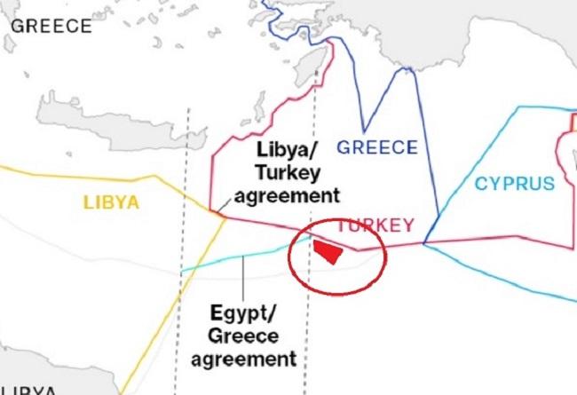 Ακολουθεί την οριοθέτηση Τουρκίας στην Αν.Μεσόγειο